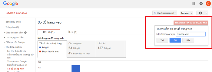 Cách khai báo sitemap với Google
