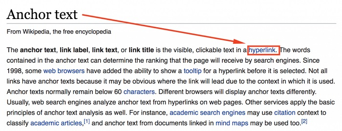 Các loại Anchor text phổ biến hiện nay