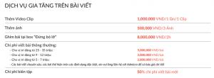 Dịch vụ gia tăng trên VTV.vn