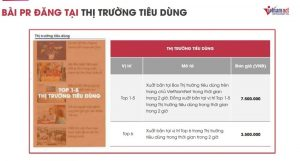 Bảng báo giá đăng bài PR trên báo Vietnamnet.vn mới nhất